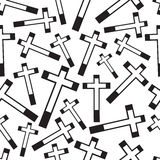 Black and white religion cross seamless pattern. Eps10 Royalty Free Stock Photography
