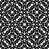 Black & white repeat ornamental texture, monochrome seamless pattern Royalty Free Stock Image