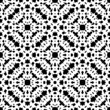 Black & white repeat ornamental texture. Vector monochrome seamless pattern, repeat ornamental backdrop, oriental style. Abstract black & white mosaic background Royalty Free Stock Photos