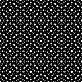 Black & white repeat ornamental texture. Vector seamless pattern, endless monochrome ornamental texture in oriental style. Simple abstract mosaic, black & white Vector Illustration