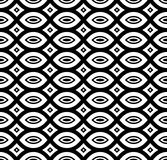 Black & white repeat ornamental texture Royalty Free Stock Images