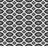 Black & white repeat ornamental texture Stock Images