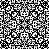 Black and white seamless repeat pattern and background vector image Stock Image