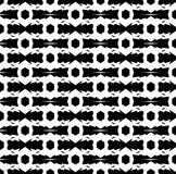 Black and white repeat pattern and vector image abstract background. Useful for knitting,wallpaper, printing and embroidery industry Stock Photography
