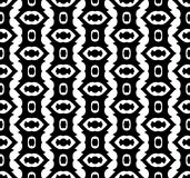 Black and white repeat pattern and vector image abstract background. Useful for knitting,wallpaper, printing and embroidery industry Royalty Free Stock Photos
