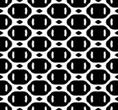 Black and white repeat pattern and vector image abstract background. Useful for knitting,wallpaper, printing and embroidery industry Stock Image