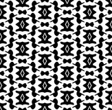 Black and white repeat pattern and vector image abstract background. Useful for knitting,wallpaper, printing and embroidery industry Stock Photo