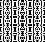 Black and white repeat pattern and vector image abstract background. Useful for knitting,wallpaper, printing and embroidery industry Royalty Free Stock Images