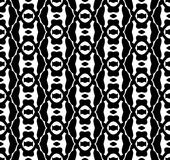 Black and white repeat pattern and vector image abstract background. Useful for knitting,wallpaper, printing and embroidery industry Royalty Free Stock Photography