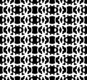 Black and white repeat pattern and vector image abstract background. Useful for knitting,wallpaper, printing and embroidery industry Stock Images