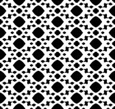 Black and white repeat pattern and vector image abstract background. Useful for knitting,wallpaper, printing and embroidery industry Stock Photos