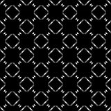Black and white repeat pattern and vector image Stock Image