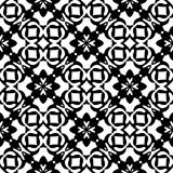 Black and white repeat pattern vector and seamless background image. Design useful for wallpaper  advertisement  cover page banners albums cards  printing Royalty Free Stock Photo