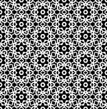 Black and white repeat pattern vector and seamless background image. Design useful for wallpaper  advertisement  cover page banners albums cards  printing Royalty Free Stock Photos