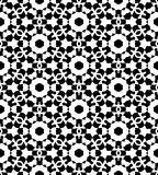Black and white repeat seamless pattern vector image design Royalty Free Stock Image