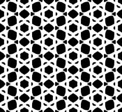 Black and white repeat seamless pattern vector image design Stock Images