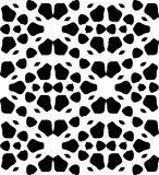 Black and white repeat seamless pattern vector image design Stock Photography