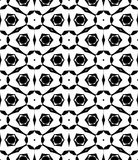 Black and white repeat seamless pattern vector image design Royalty Free Stock Images