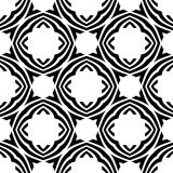 Black and white repeat seamless pattern vector image design Royalty Free Stock Photos