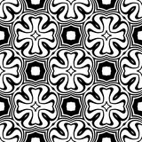 Black and white repeat seamless pattern vector image design Royalty Free Stock Photo