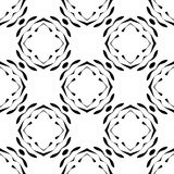 Black and white repeat seamless pattern vector image design Royalty Free Stock Photography