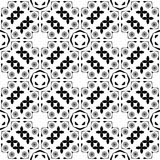 Black and white repeat seamless pattern vector image design Stock Image