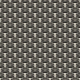 Black and white repeatable Halloween owl pattern Stock Photo