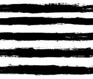 Black and white repeatable paintbrush stripes Stock Images