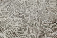 Black and white repeating torn newspaper background. Continuous pattern left, right, up and down.  royalty free stock images