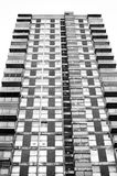 Black and white residential building Stock Photo