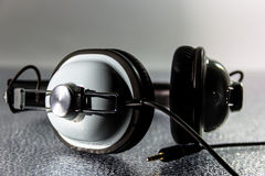 Black and white retro  Headphone Royalty Free Stock Photos