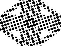 Black and white retro pattern Royalty Free Stock Photo