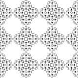 Black and White Retro Pattern. Vector illustration of a black anda white vintage seamless pattern wallpaper Vector Illustration