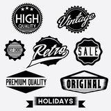 Black and White Retro Stamps and Badges Royalty Free Stock Images