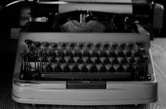 Black and white retro typewriter letter Royalty Free Stock Image
