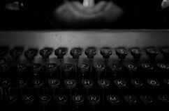 Black and white retro typewriter letter Royalty Free Stock Photography