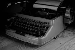 Black and white retro typewriter letter Stock Photos