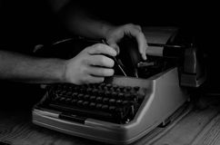 Black and white retro typewriter letter Royalty Free Stock Photos