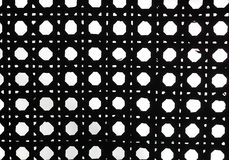Black and white retro weave pattern. Close up background and texture of black and white retro weave pattern Stock Photos