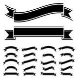 Black and white ribbon symbols Royalty Free Stock Photography