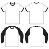 Black White Ringer T-Shirt Design Template Royalty Free Stock Images