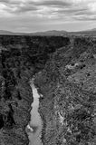 Black and white Rio Grande Gorge Canyon stock photos