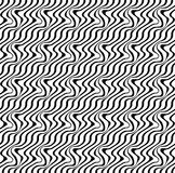 Black and white ripple stripe seamless pattern abstract Royalty Free Stock Photos