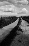 Black and white road Royalty Free Stock Photo