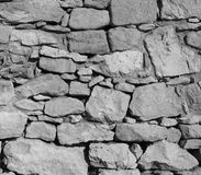 Black and White Rock Wall Background Stock Photography
