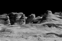 Black and white rocks Stock Images