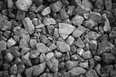 Black and white rocks texture and background Royalty Free Stock Image