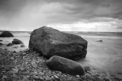 Black & White rocky Royalty Free Stock Photography