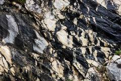 Black and white rocky structure Royalty Free Stock Photography