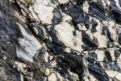 Black and white rocky structure Royalty Free Stock Image